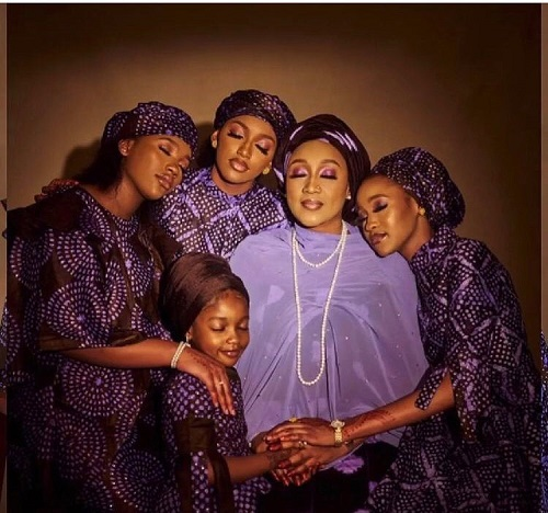 Stunning photos of President Buhari's daughter, Hadiza, and her beautiful daughters