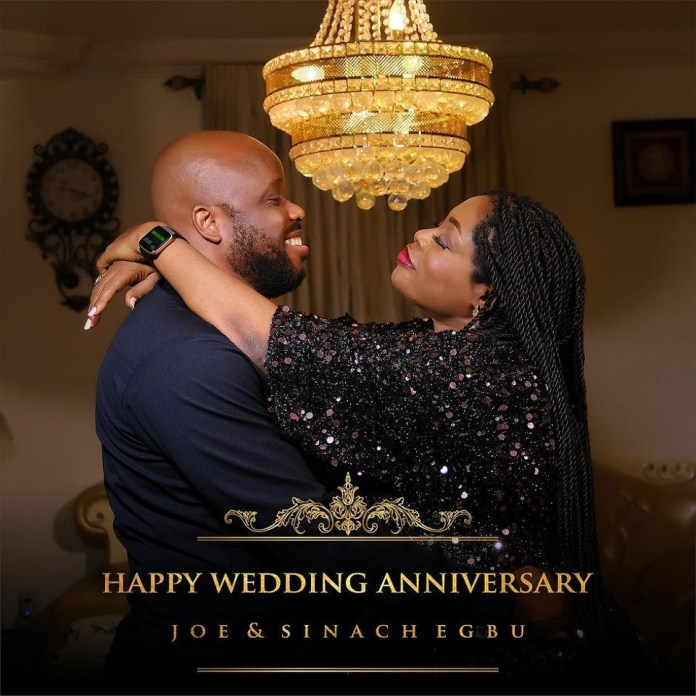 International Worship leader Sinach is celebrating her 7th year wedding anniversary with her husband:Pastor Joe Egbu.