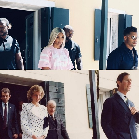 Ciara and Russell recreate Princess Diana and Prince Charles photo in the same location