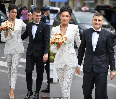 Footballer Marco Verratti ties the knot for second time as he marries his model girlfriend Jessica Aidi