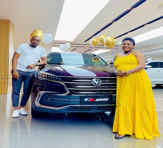 Therapist, Angela Nwosu, Receives A Brand New SUV From Her Husband As Push Present