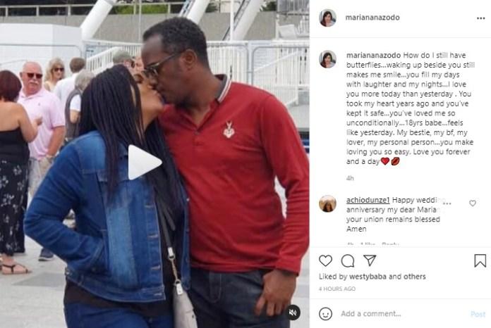 TV couple, Charles & Marian Anazodo celebrate their 18th wedding Anniversary