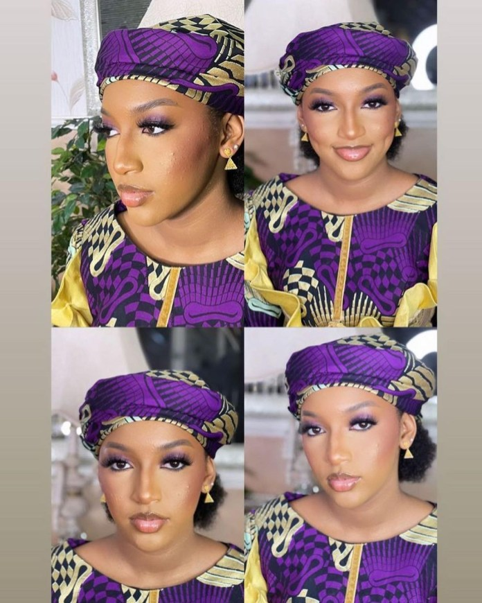 Photos of President Buhari's granddaughters at their uncle's wedding ceremony