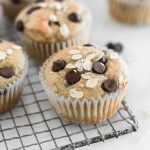 Healthy Gluten-Free Banana Chocolate Chip Blender Muffins