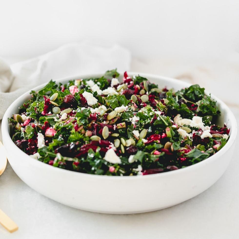 Shredded Beet Kale Salad