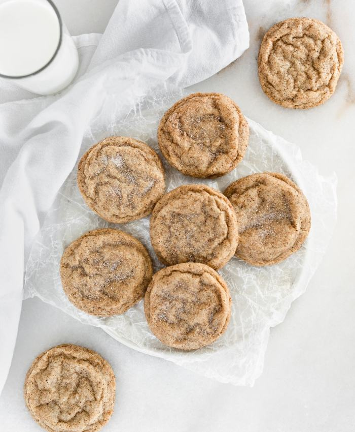 Chai Spiced Snickerdoodles have soft and buttery insides and sweet and spicy, slightly crunchy outsides. The perfect cookies for pairing with a cup of tea. (vegetarian, dairy-free option)