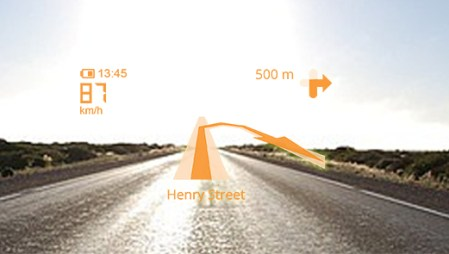helm with GPS HUD