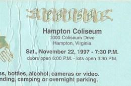 phish hampton 97 ticket