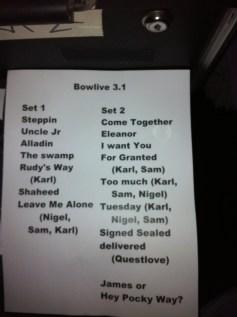Soulive @ Brooklyn Bowl, 3.1.12 - setlist