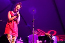 Kal of Rubblebucket & Marco Benevento perform their new tune at the Vaudeville Tent, HSMF 2012