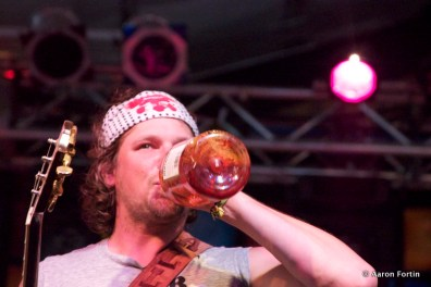 Josh Clark drinking and sharing his Whiskey (Yes, I took a sip) HSMF 2012