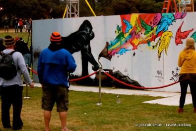 Graffiti Art Gorilla @ Outside Lands 2012 || Photo © Joseph Smith
