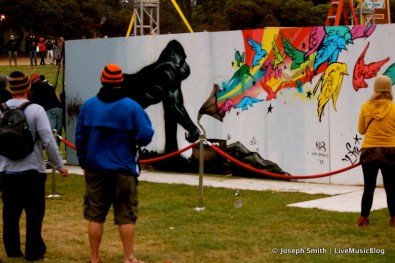 Graffiti Art Gorilla @ Outside Lands 2012 || Photo © Joseph Smith