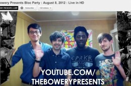 bloc party bowery presents