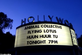 Marquee for Animal Collective, Flying Lotus and Huun Huur Tu @ Hollywood Bowl - 9/23/12 || Photo © Wesley Hodges