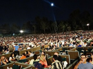 Crowd for Flying Lotus @ Hollywood Bowl - 9/23/12 || Photo © Wesley Hodges