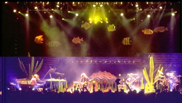 Phish's Aquarium Stage Setup from 12/31/93