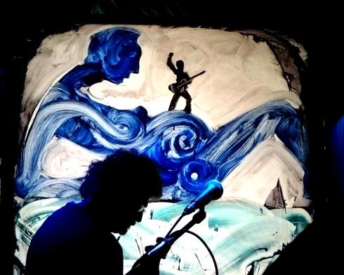 Norton Wisdom Live Paints @MintLA. Photo by Wesley Hodges