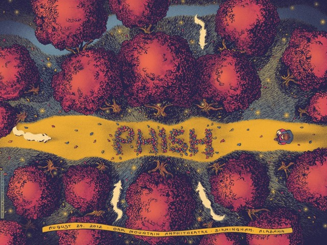 8/24/12 Phish Poster by James Flames
