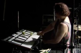 "Fishman plays the Marimba Lumina during ""Mule"" 7/14/13."