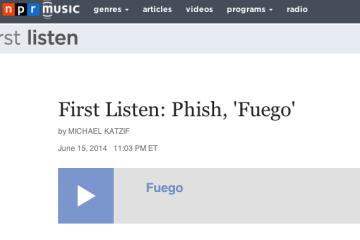 First Listen  Phish   Fuego    NPR