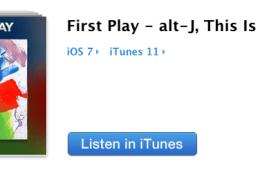 alt-j new album on itunes radio
