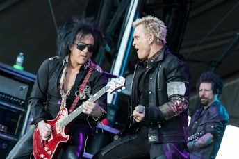 Billy Idol performing at LouFest in St. Louis on Sunday September 13, 2015.