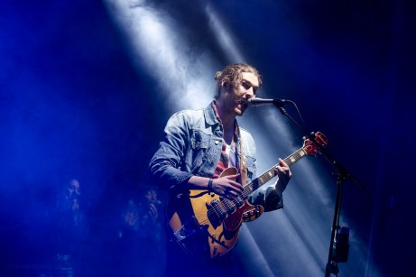 Hozier performing at LouFest in St. Louis on Saturday September 12, 2015.