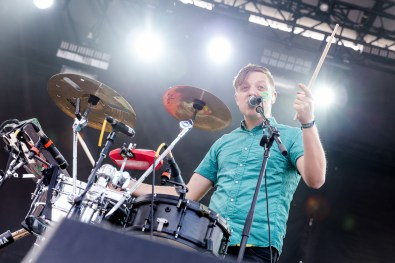 Robert Delong performing at LouFest in St. Louis on September 12, 2015.