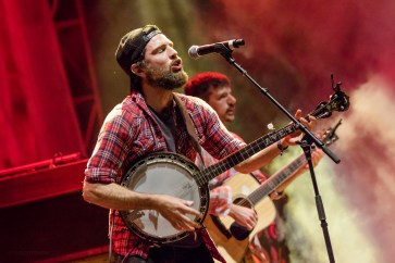The Avett Brothers performing at LouFest in St. Louis on Sunday September 13, 2015.