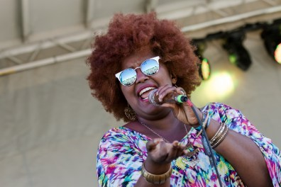 The Suffers performing at LouFest in St. Louis on Sunday September 13, 2015.