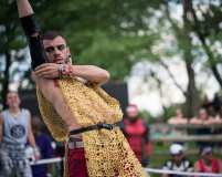 A dancer at the Dance Off Stage