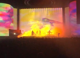 tame impala played coachella with huge psychedelic graphics