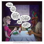 speed dating helps you meet interesting people - Live Nude Ghouls comic