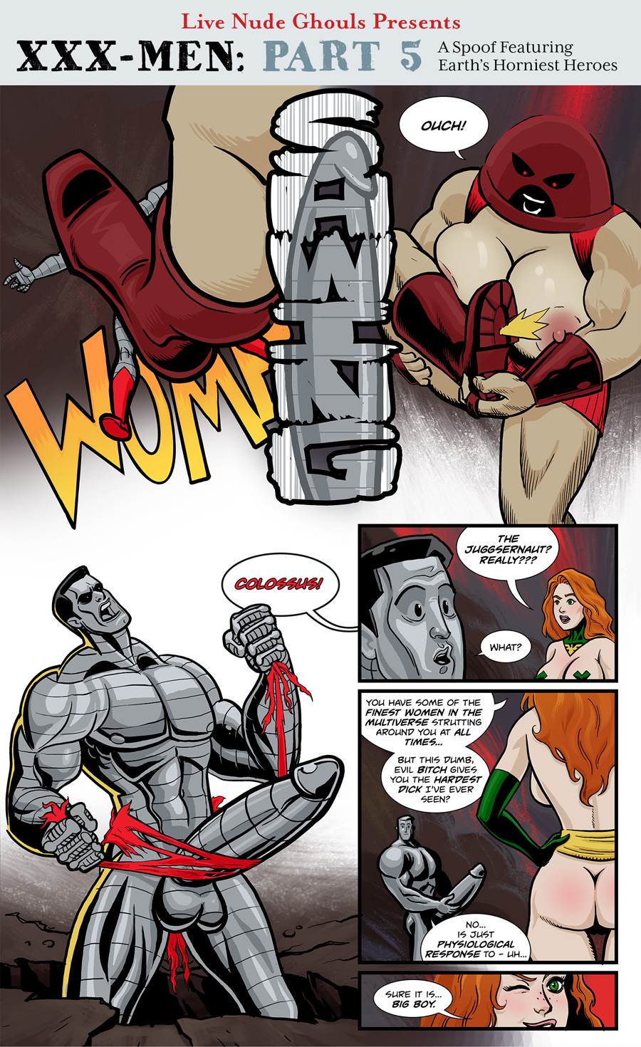 The Juggsernaut attacks Colossus, but gets an unexpected response.