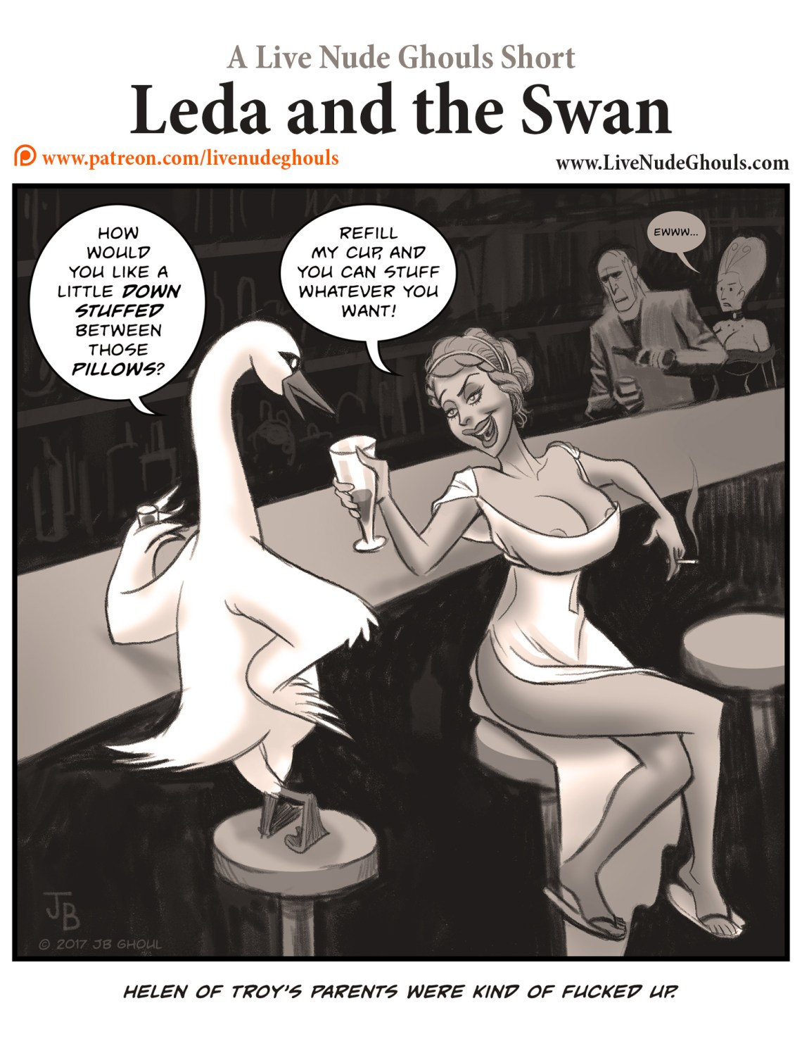 Leda is being hit on by a swan... Helen of Troy