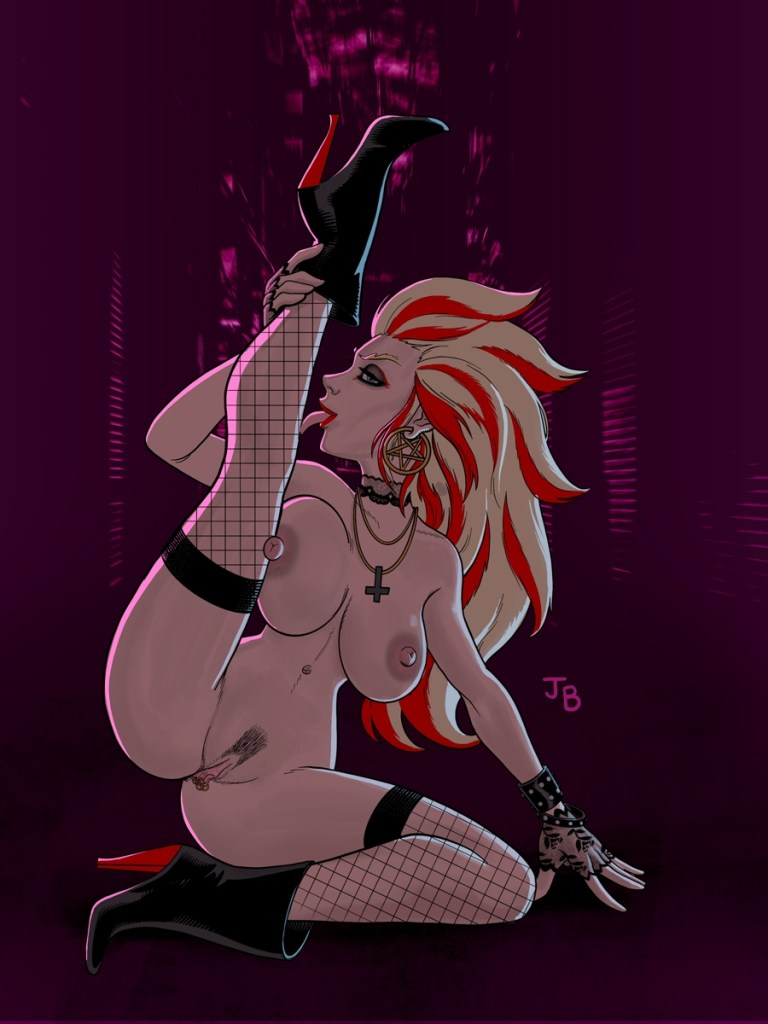 Metal - nude pinup inspired by Heavy Metal music.