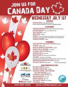 Canada Day 2015 Thornbury & Blue Mountain