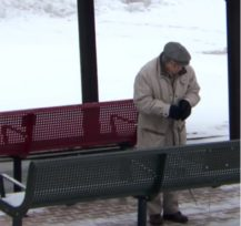 Elderly Man Honors Late Wife