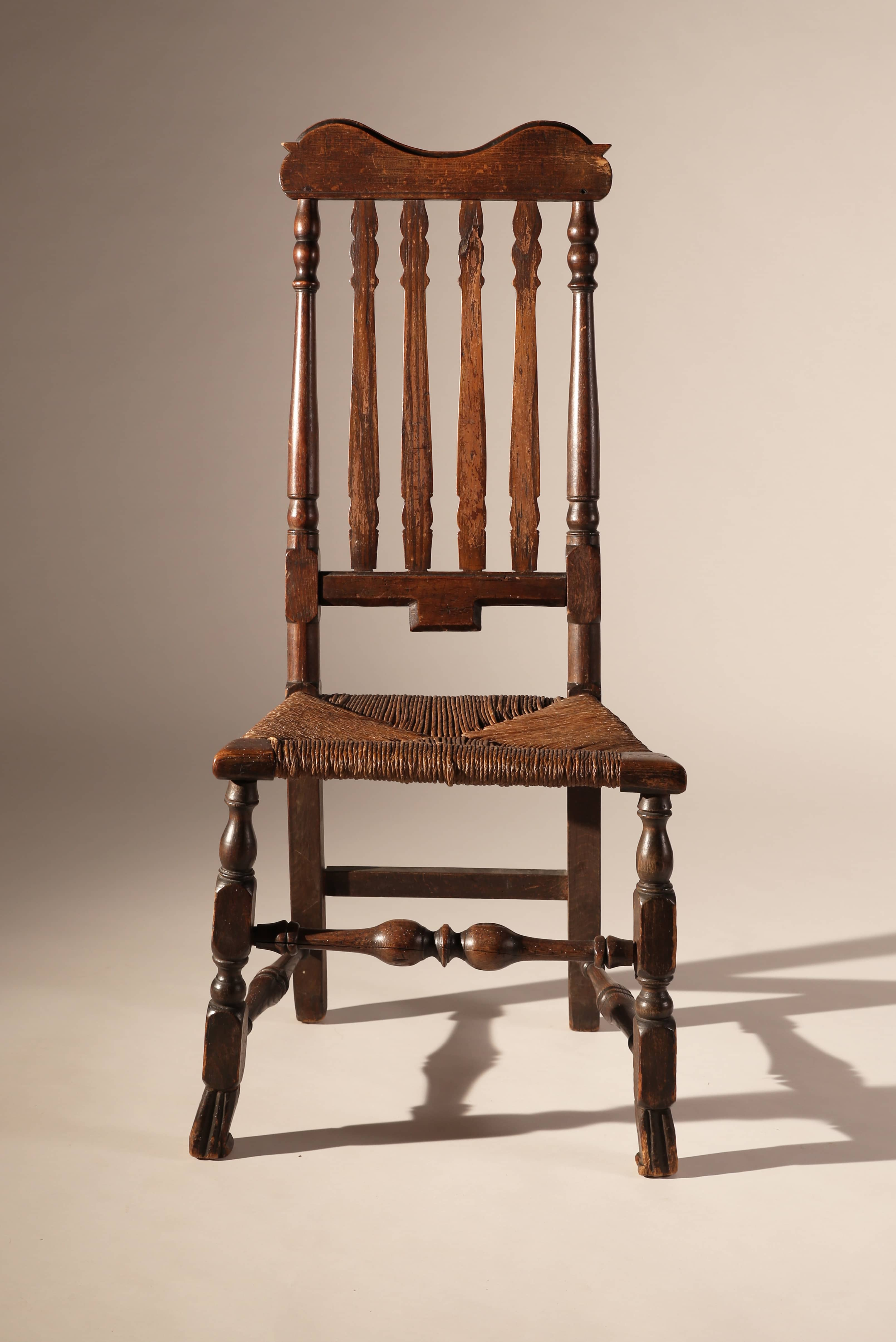 Chair In Spanish Banister Back Side Chair With Spanish Foot Wethersfield