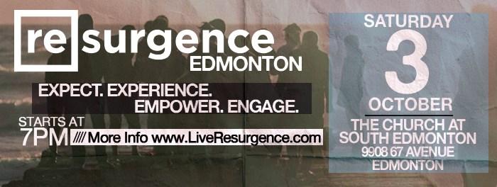 Resurgence Edmonton October 3rd 2015