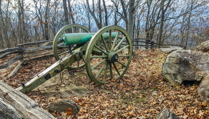 Thanks to the NPS for preserving our history - Civil War cannons along the trail