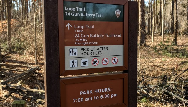 Hiking distances at Kennesaw Mountain