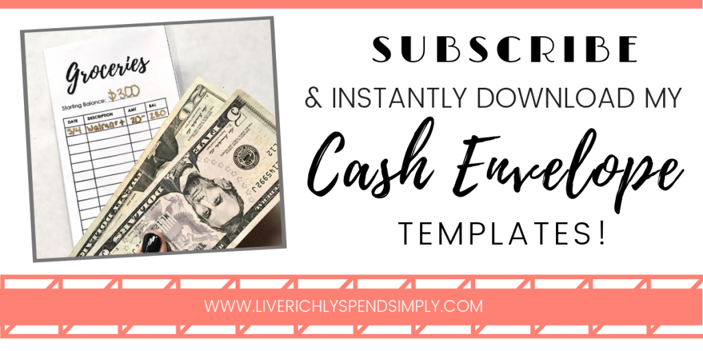 How to Save Money Using Cash Envelopes + [Free Printable