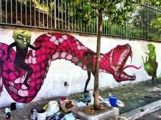 """Nicola Alessandrini, Lisa Gelli & Diavù """"Senza Titolo"""" Piazza dei Tribuni aprile/maggio 2012"""