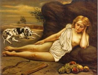 Giorgio De Chirico, «Diana addormentata nel bosco», 1933