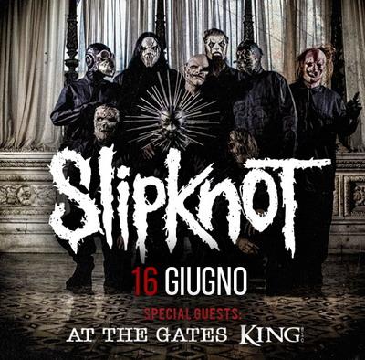 Slipknot il 16 giugno al Rock in Roma 2015, con At The Gates e King 810