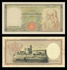50.000 lire Leonardo da Vinci