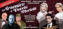 Arsenico e vecchi merletti SPECIALE CAPODANNO: il 31 dicembre 2015 al Teatro Ghione con Ivana Monti, Paola Quattrini, Sergio Muniz