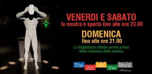 The Art of the Brick: sculture di mattoncini Lego in mostra a Roma dal 28 ottobre 2015 al 14 febbraio 2016, al SET in via Tirso 14, con opere di Nathan Sawaya, il maestro dell'arte del LEGO